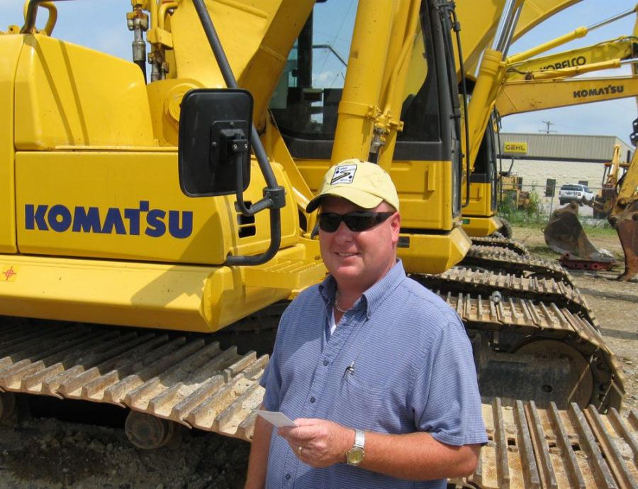 Marvin Powell of Allen Company was pleased to land this Komatsu excavator with the winning bid.