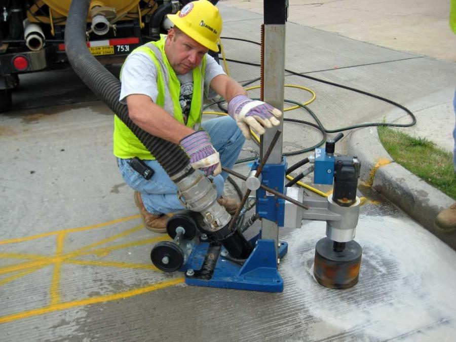 The McLaughlin V500LTHD vacuum excavator with core saw saves time and money for Laclede Gas.