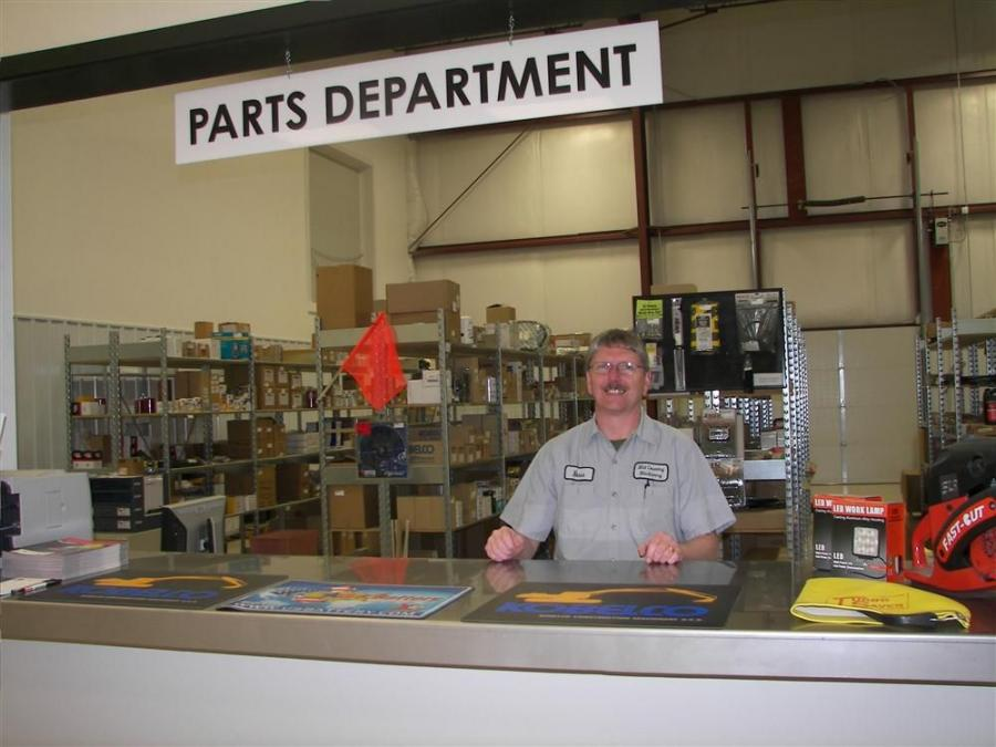 Russ Ruhde, Mid Country Machinery parts manager.