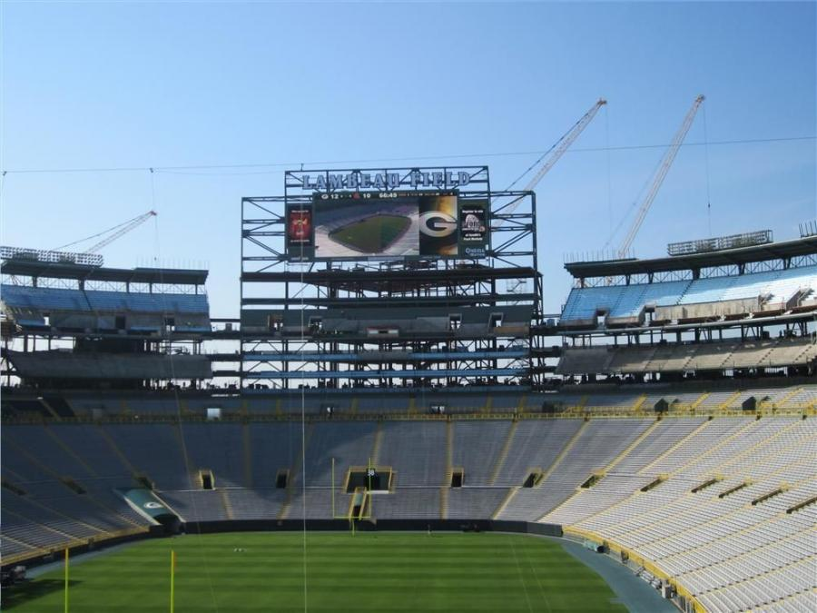 Miller Electric Mfg. Co. held a press event recently at Lambeau Field in Green Bay, Wis., home of the Green Bay Packers, and where the $140 million expansion project is currently under way.