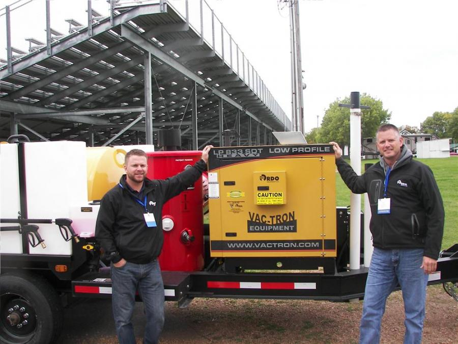 RDO Vermeer, Burnsville, Minn., had sales professionals Pat Arnold (L) and Tim Williams with a VacTron LP 833 SDT.