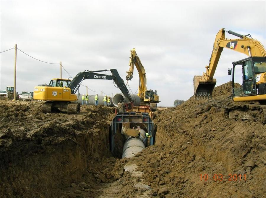Steve Roberts, The Beaver Excavating Company photo The onsite waterline system consists of more than 6,000 ft. (1,828 m) of 72-in. (182.9 cm), pre-stressed concrete pipe.