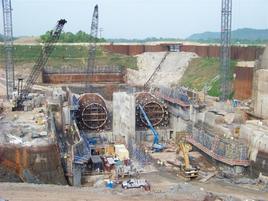Work is progressing on the multi-year and multi-million dollar project to build the Willow Island hydro-electric power plant located on the south end of the Willow Island Locks and Dam on the West Virginia side of the Ohio River.