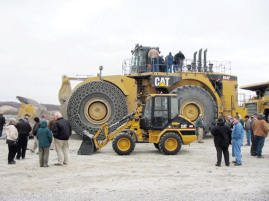Cat Wheel Weights : Oxford mining company adds cat f wheel loader