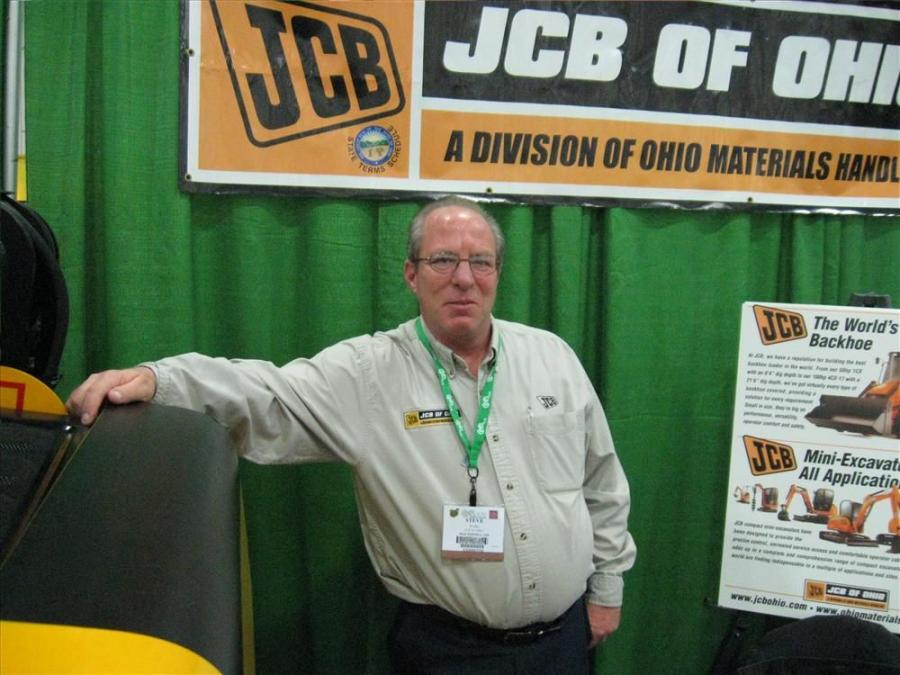 Steve Huml welcomes attendees to JCB of Ohio's exhibit.