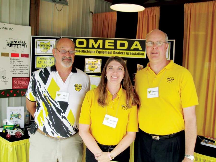 (L-R): Ohio Michigan Equipment Dealers Association's Dave Slagle, Becky Anway and Dennis Alford were on hand to promote their upcoming 2010 Power Show.