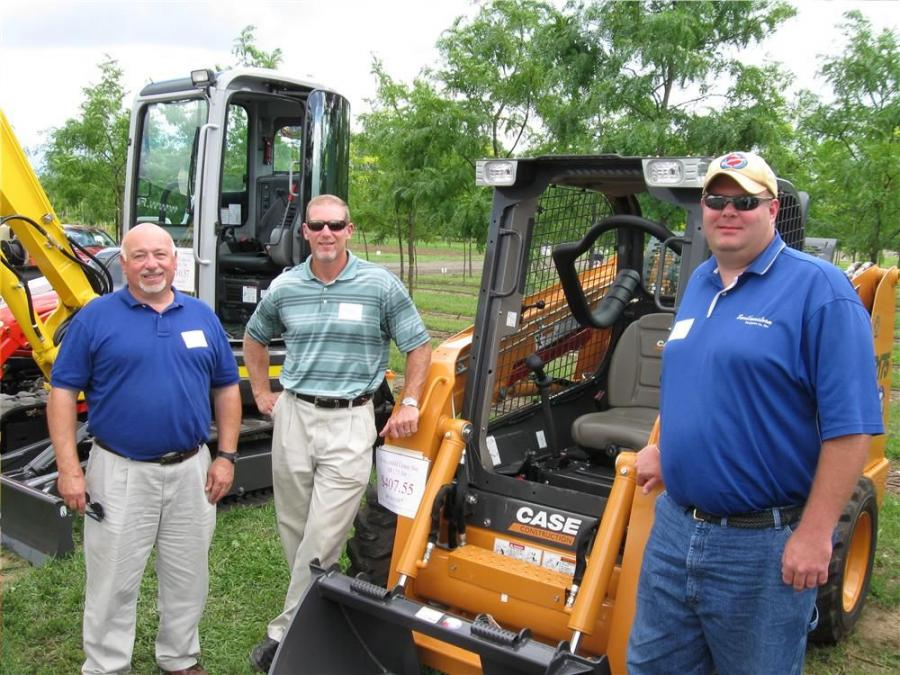 (L-R): Southeastern Equipment Company's George Nofel, Paladin's Bill Atwell and Southeastern Equipment Company's Jon Wickline greet visitors to their exhibit.