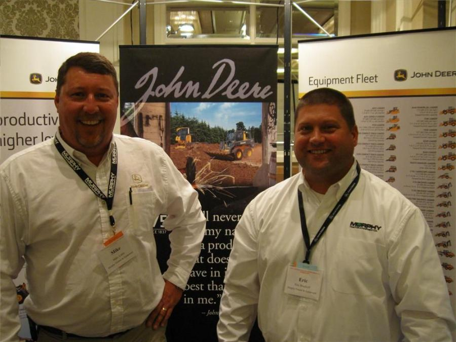 Murphy Tractor & Equipment's Mike Little (L) and Eric Bischoff were on hand to discuss their line of John Deere equipment.