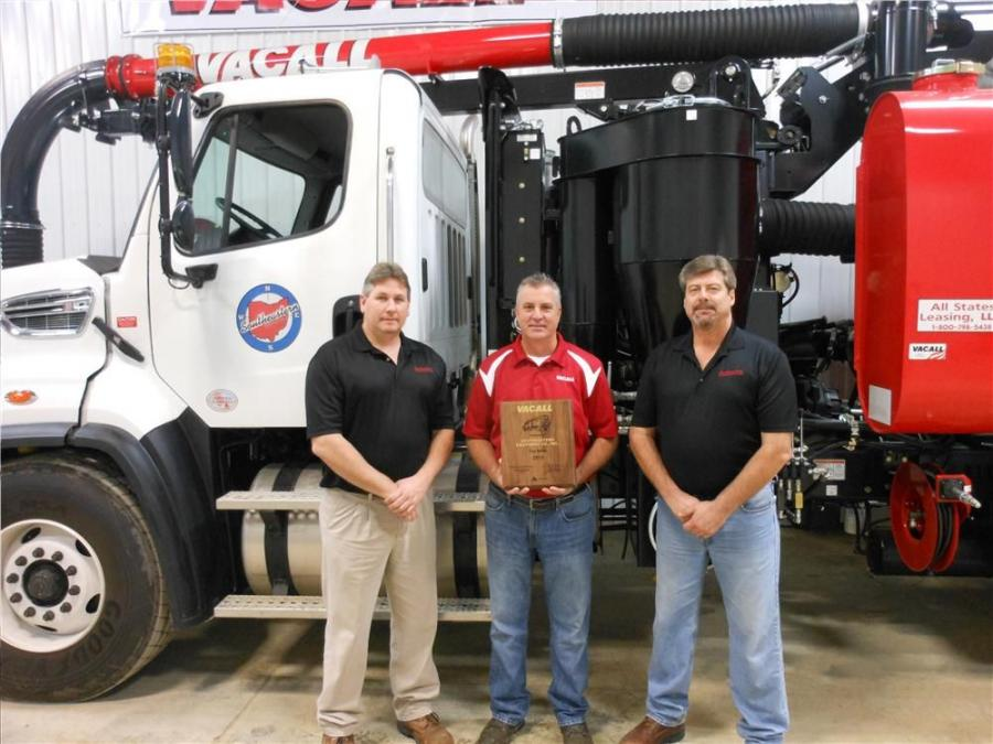 (L-R) are Brandon Unklesbay, Southeastern environmental division manager; Tod Ebetino, Vacall midwest regional sales manager; Ken Edwards, Southeastern environmental division product specialist.