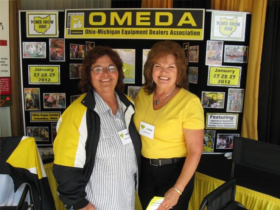 The Ohio Michigan Equipment Dealers Association's Marti Smith (L) and Linda Kahler are happy to answer questions about the upcoming Ohio Power Show in Columbus from  Jan. 27 to 29.