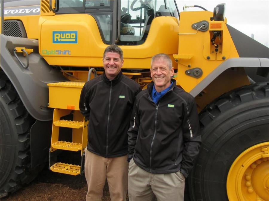 Rudd Equipment Company's Brian James and Martin McCutcheon had a variety of Volvo machines to present to attendees at the show.