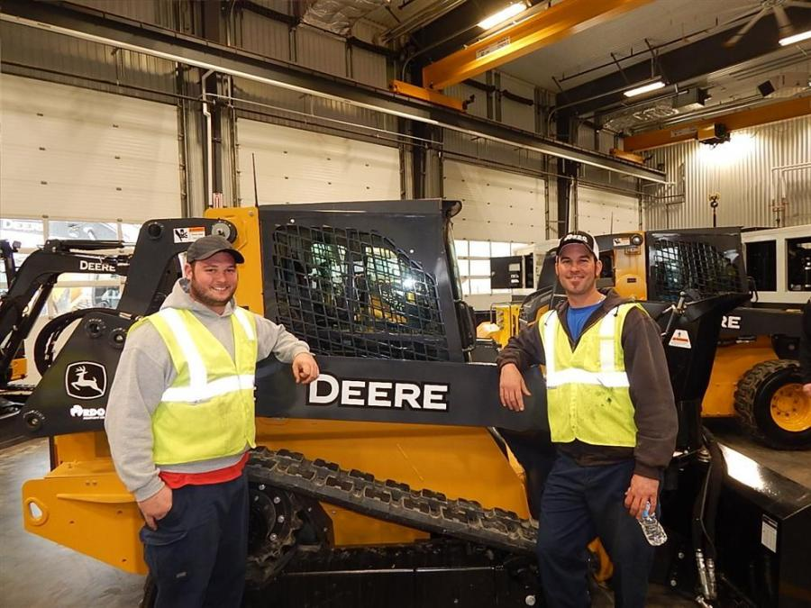The city of Inver Grove Heights had Equipment Operator Tyler Montgomery (L) and fellow Equipment Operator Luther Deutsch with a John Deere 319E.