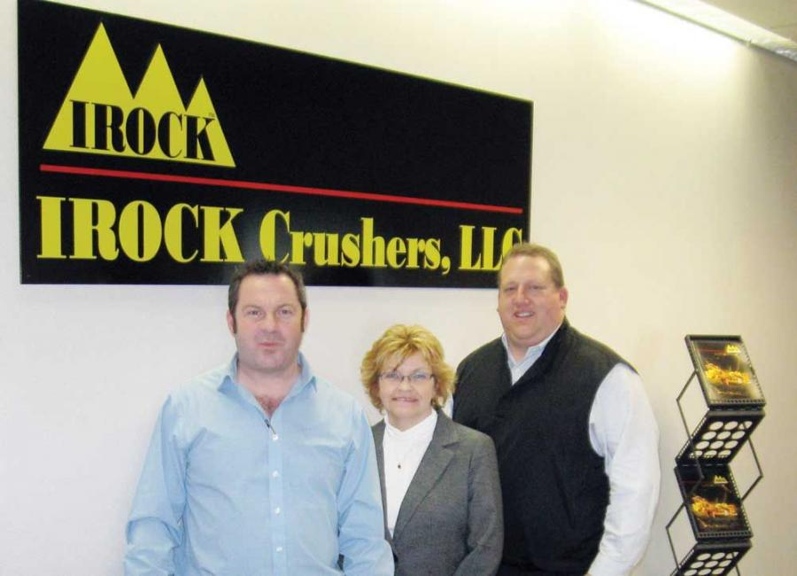 (L-R): The IROCK team gathers at the new location, Sean Donaghy, sales manager; Nancy Frognowski, office manager and Robert Nelson, general manager.