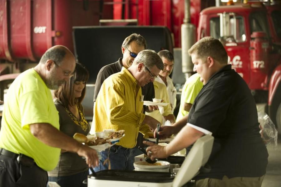 Guests helped themselves to the hearty buffet lunch at Reco Equipment's customer appreciation event.