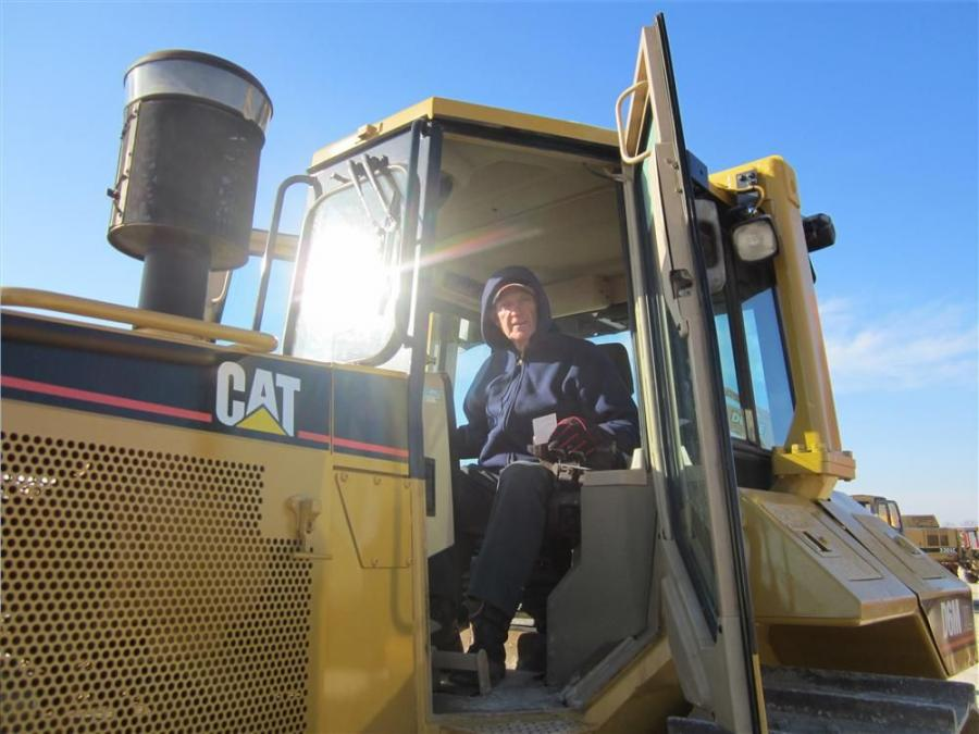 Bill Hunt, Hunt Farms, likes the feel of this Cat D6M dozer.