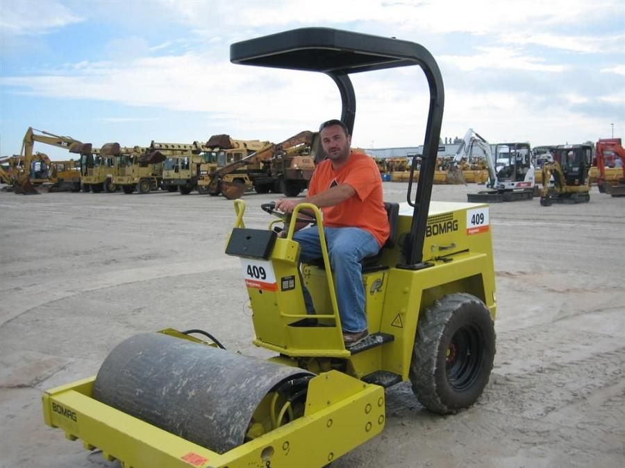 Luke Willis liked what he saw in this Bomag BW124 single drum roller.