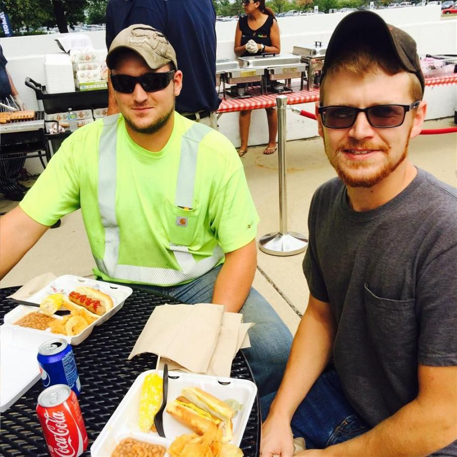 Tanner Creasy (L) and Adam Roth of Bolder Contractors Inc., Deerfield, Ill.