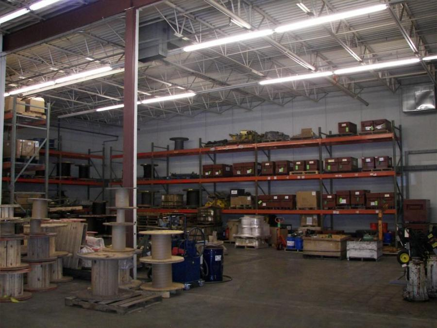 Sharrow Lifting Products's storage warehouse area.