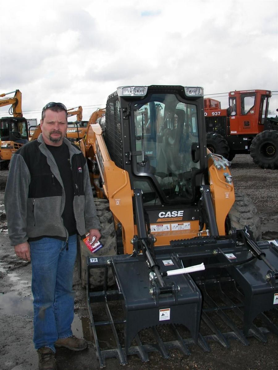 Bryan Ellis of BE Grading, Big Lake, Minn., bought an excavator from Titan and is considering adding something like this Case SV250 with a Virnig grapple to his fleet.