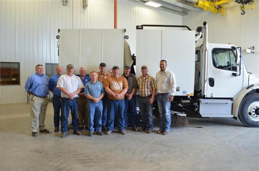 (L-R) are Bob Boatman, Titan Machinery; Raymond Massey, Schwarze Industries; Gerald Elm, city of Grand Forks; Brian Giles, Schwarze Industries; Mark Aubol, city of Grand Forks; Blake Beckstead, city of Grand Forks; Scott Pederson, city of Grand Forks; Mat