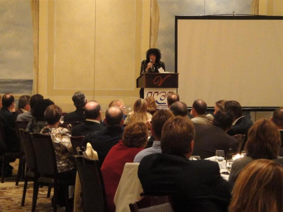 Loretta Rosenmayer (INTREN) addresses more than 200 industry professionals at the meeting.