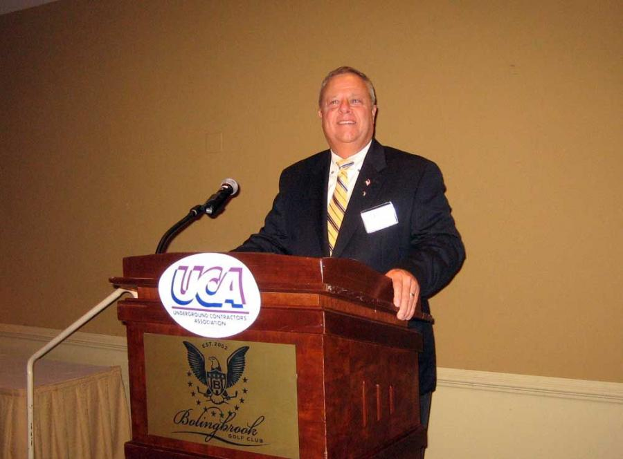 Dave Benjamin, executive director of UCA, gets the evening program going by introducing the board members and directors.