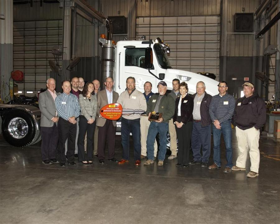 Whayne Supply Company unveiled the new Cat CT660 vocational truck in a delivery and presentation of keys to Jim Smith Contracting.