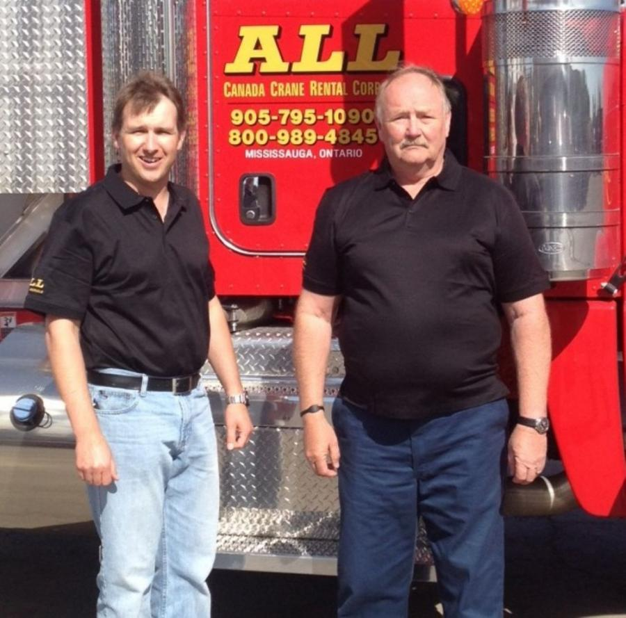 Jason Hanna (L) and his father Robert Hanna have both been promoted at ALL Canada Cranes & Aerials.