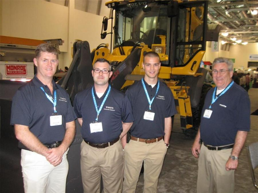 Representing Alta Equipment, the Michigan Volvo Dealer, (L-R) are Chuck Detzler, Rob O'Rourke, Jack LaForge and Tom Colwell.
