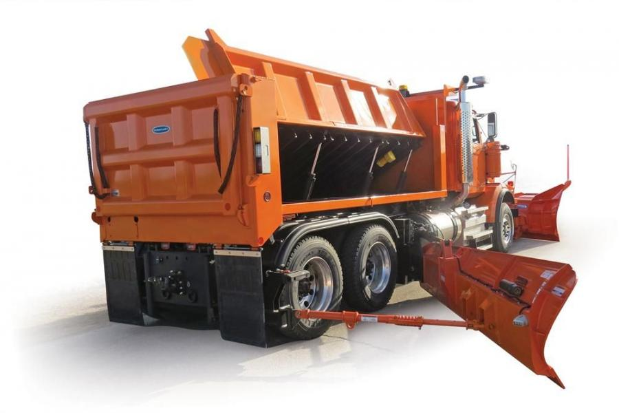 The DuraClass Sidewinder dump body operates as a standard dump body and provides a solution for spreading material during the winter months. The 3 to 4 cu. yd. (2.3 to 3 cu m) Sidewinder Jr. is designed for medium duty truck applications and complements t