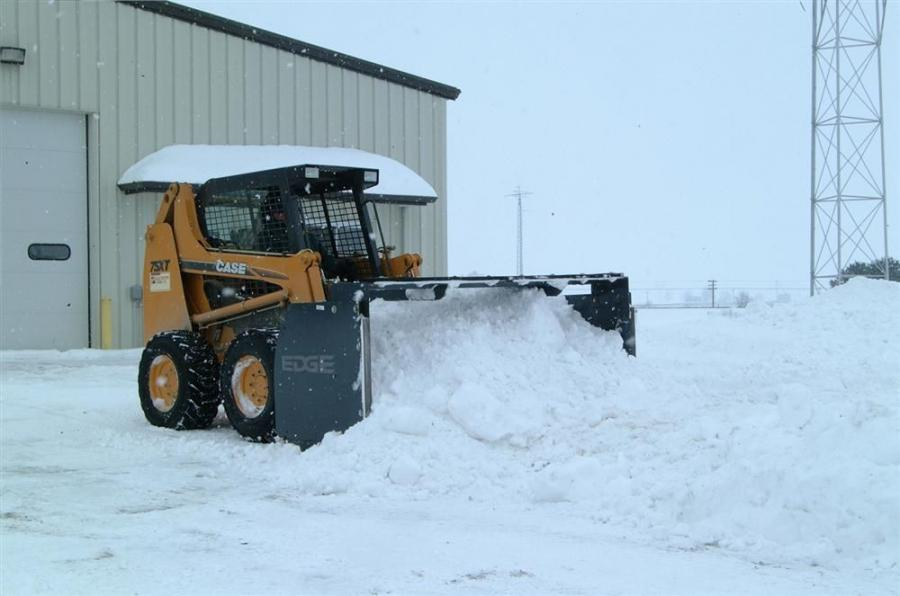 The Edge high profile snow push attachments are available in 8, 10, 12, and 14-ft. (2.4, 3, 3.6 and 4.3 m) sizes and have the capacity of moving up to 12 cu. yds. (9 cu m) of snow.