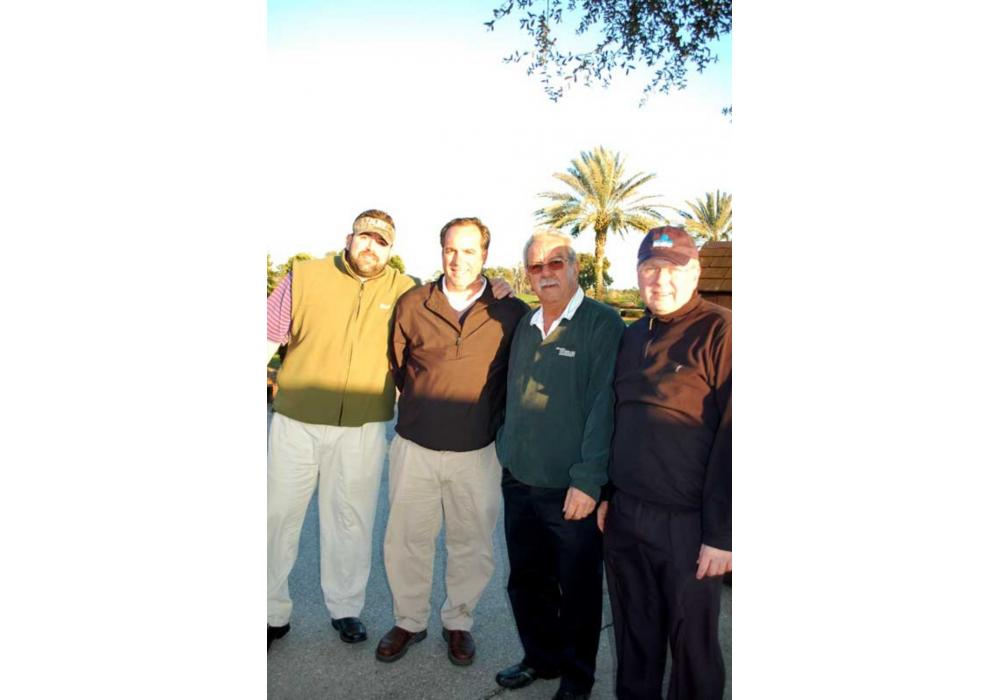 Looking forward to an enjoyable day are (L-R) Jacob May, May Heavy Equip. Rentals & Sales, Lexington, N.C.; Tom Ferguson, May Heavy Equip. Rentals & Sales, Pembroke Pines, Fla.; Dan Simpson, Daneco Trading, Vancouver, British Columbia; and Bernd Vogelmann