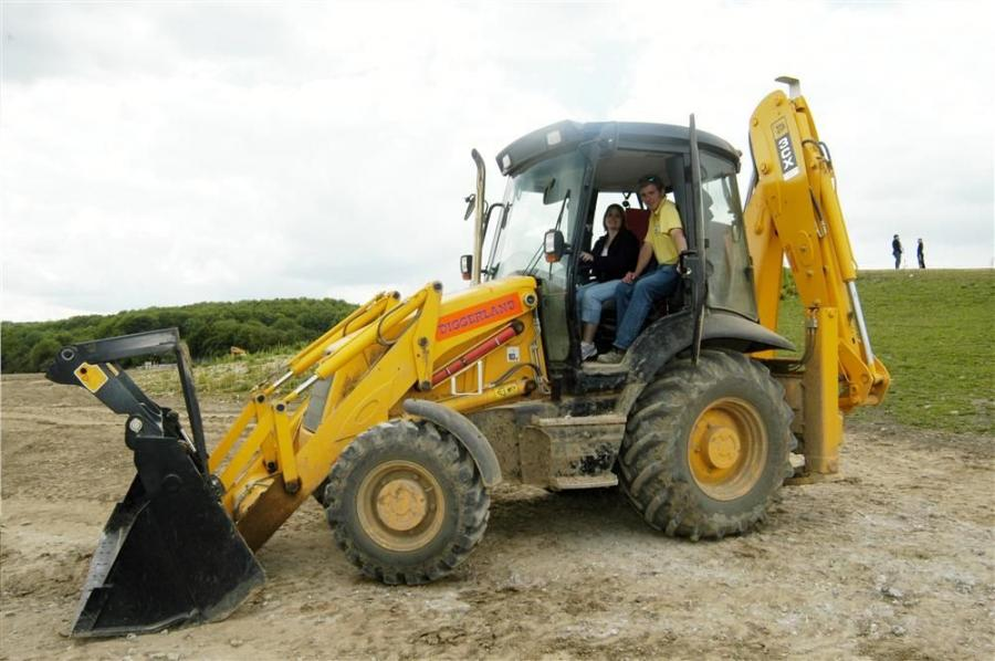 Each Diggerland location typically has three or four backhoes and an equal number of dumpers for driving around a course, four or five skid steers and as many as 15 excavators of various sizes.