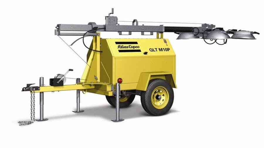 The USA-built QLT Prime Lighting tower from Atlas Copco utilizes a GenSmart permanent magnet generator (PMG,) a new engine, a 30-ft. (9 m) mast and other improvements specifically designed for the North American market.