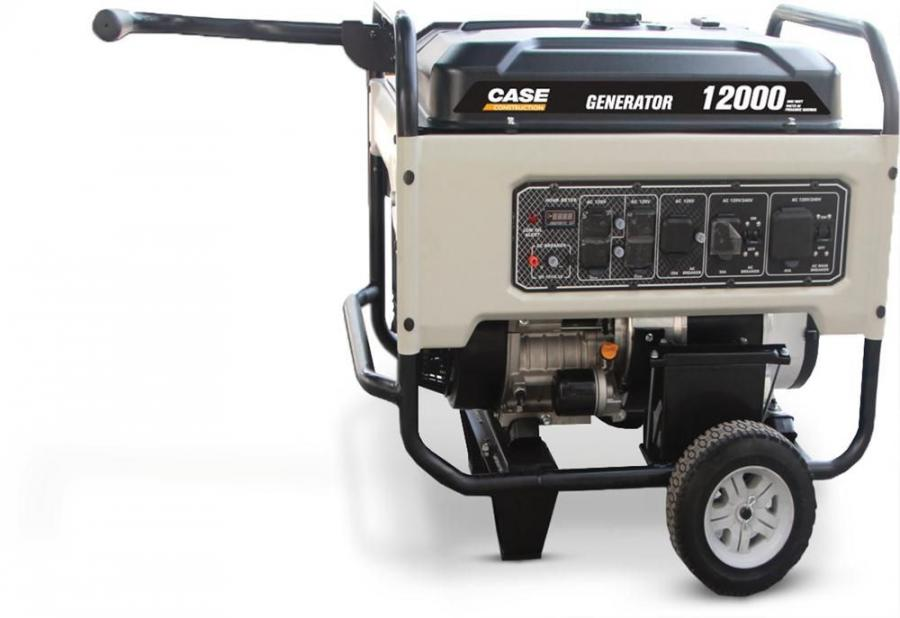 The new Case 12,000-watt generator delivers a continuous 9,500-watts, with up to 40 amps of output.