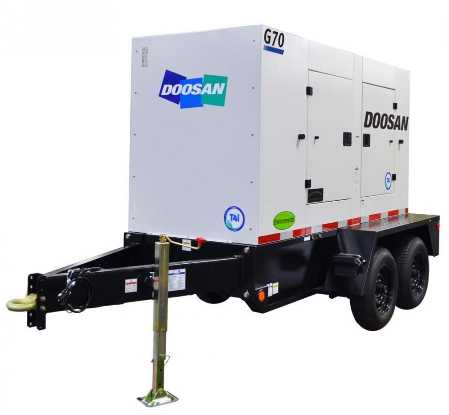 Doosan's G70, G85 and G125 mobile generators are equipped with Tier IV-interim certified Cummins diesel engines.