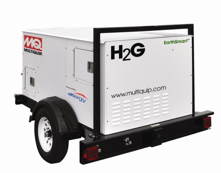 Multiquip, unveiled a prototype of the MQ H2G EarthSmart hydrogen fuel-cell powered generator (H2G).