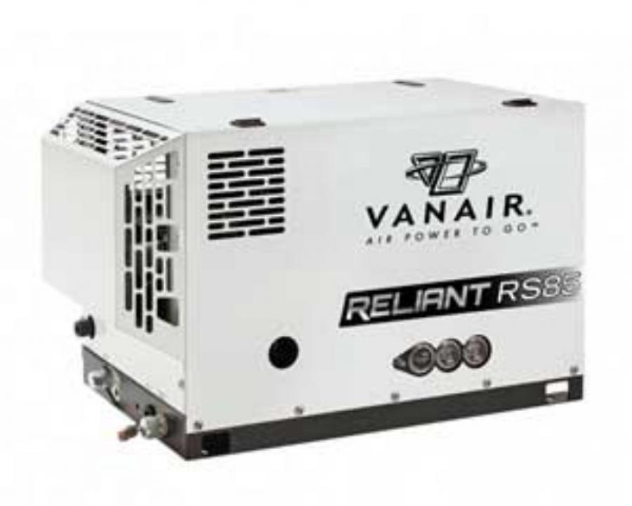 Vanair Manufacturing has introduced the all new Reliant RS85 rotary screw air compressor.
