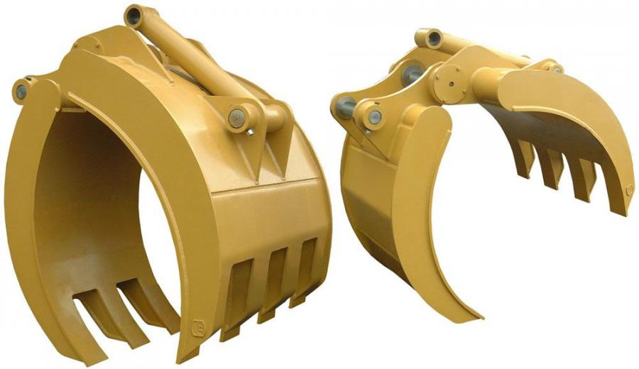 AIM excavator grapples are available in several sizes for excavators in classes ranging from 25,000 to 100,000 lbs. (11,340 to 45,359 kg).