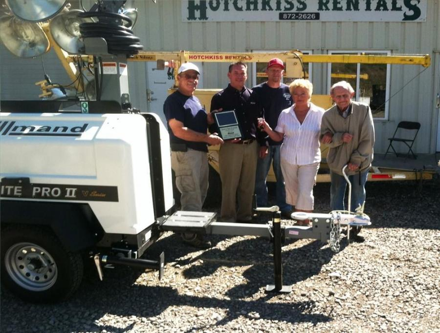 The light tower was first owned by Westmorland Coal. It has been in Hotchkiss's rental fleet for 11 years.