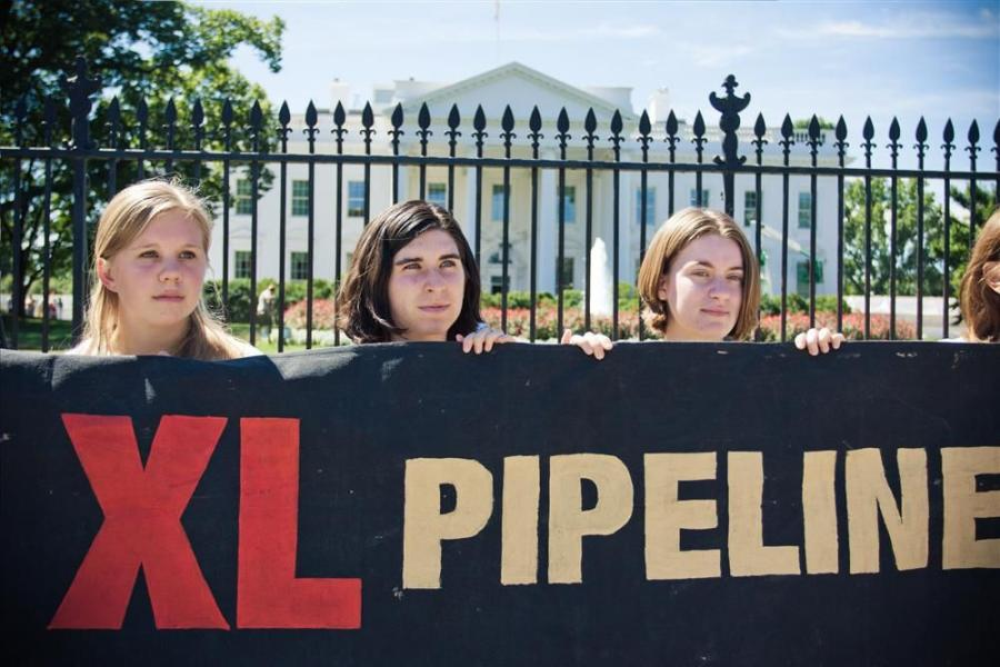 Photo courtesy of Josh Lopez. Demonstration against the Keystone XL extension, White House, August 2011.