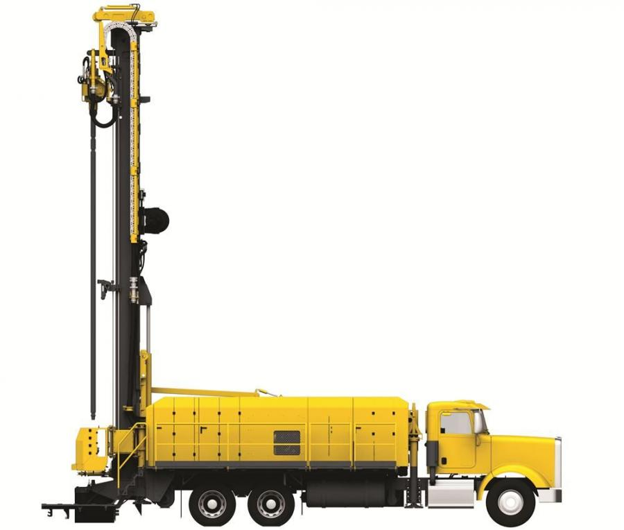 Powered by the truck's 600 hp engine, drilling operations of the Diamondback are PTO-driven, like the Atlas Copco T2W and Atlas Copco TH60. An optional deck engine module is available for those who prefer a separate engine for drilling operations.
