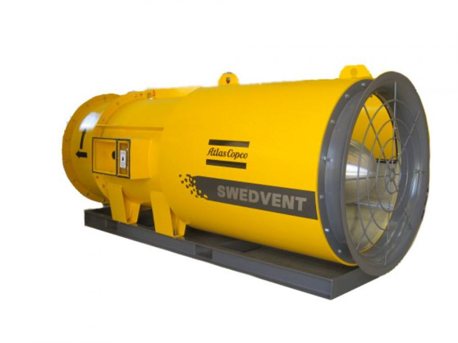 Atlas Copco has added the SwedVent underground ventilation system to its underground product range.