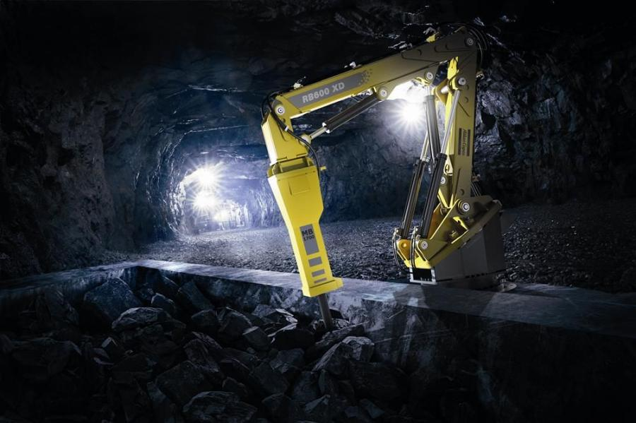 "The RB600 XD ""Extreme Duty"" pedestal boom system from Atlas Copco."
