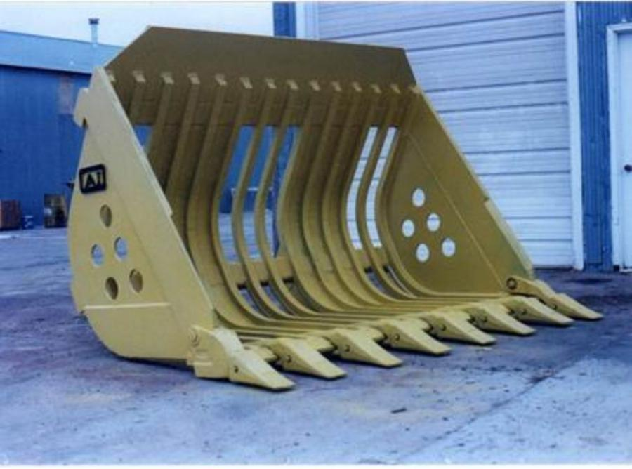 Attachments International's extreme service skeleton bucket is made for big wheel loaders and crawler loaders.