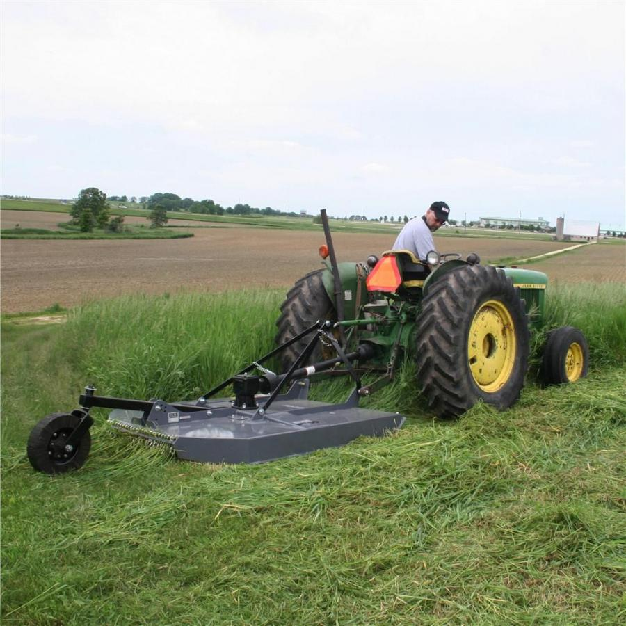 Edge rotary cutters feature shear-bolt driveline protection, side skid shoes to help the deck glide along the ground, and front and rear chain shielding to help keep material under the deck while being cut.