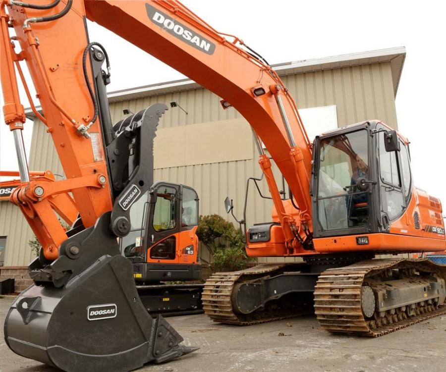 The new Doosan clamp attachments work with multiple bucket widths ranging from 24 to 60 in. (61 to 152 cm), depending on the clamp type, to help maintain the load when operating Doosan DX63-3 to DX255LC-5 excavators.