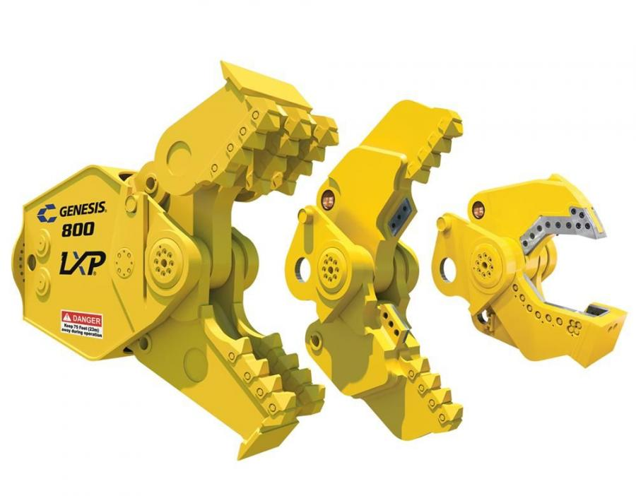 The LXP 800 is a powerful demolition tool for large columns, structures and projects, fitting 90,000 to 150,000 lb. (40,823 to 68,039 kg) excavators.