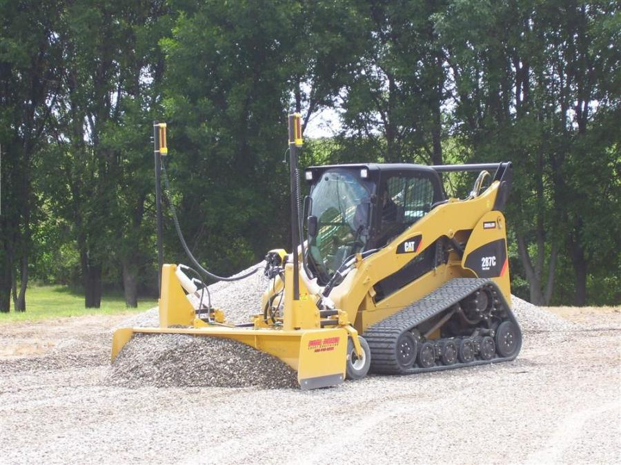 The Dual Dozer attaches to a tractor three point hitch and to most major brand skid steer models. It is equipped with two blades, which allows forward and reverse grading.