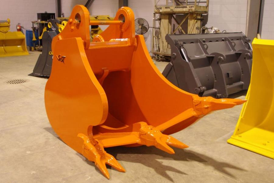 "The HCMRB utilizes the ""SHARC"" (SHanks on an ARC) technology, meaning that the bucket functions similarly to that of a trencher except it uses the hydraulic excavator rolling action to rip."